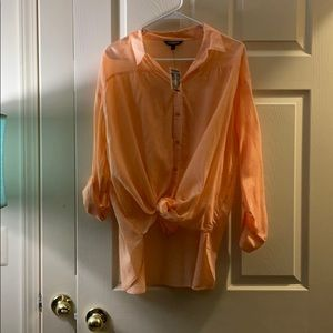 Express peach blouse NWT LARGE